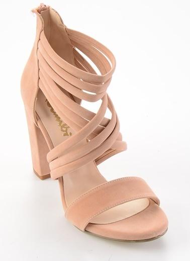 Bambi Topuklu Ayakkabı Pudra